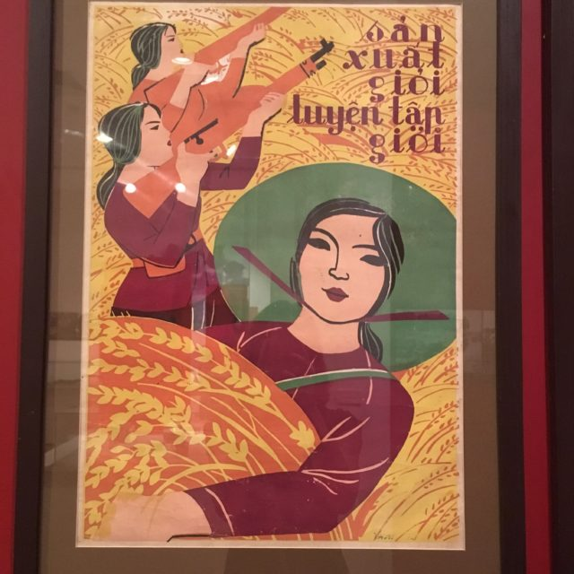 Poster at the Vietnamese Women's Museum