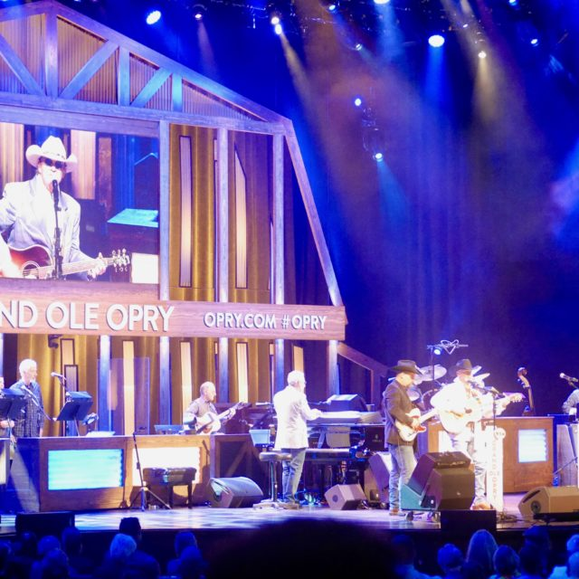 Watching a show at the Grand Ole Opry