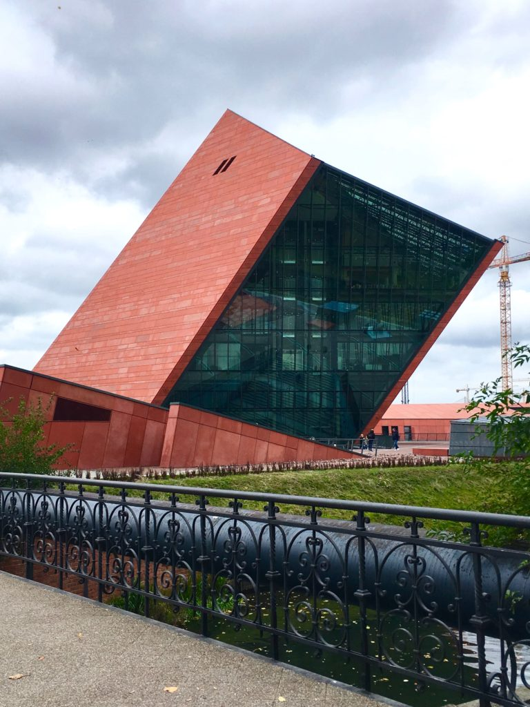 The striking facade of the Museum of the Second World War