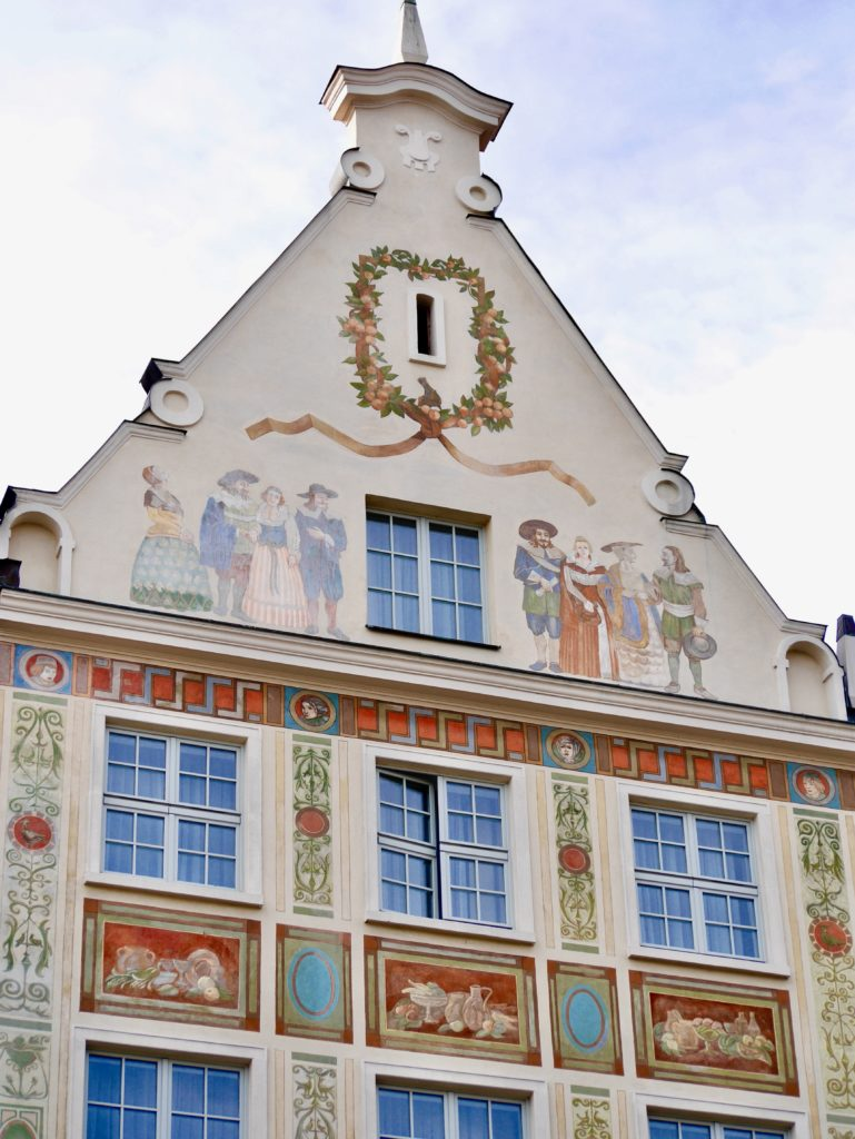 One of the beautifully decorated buildings in Gdansk Old Town