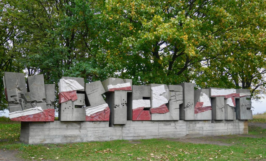 The sign at Westerplatte