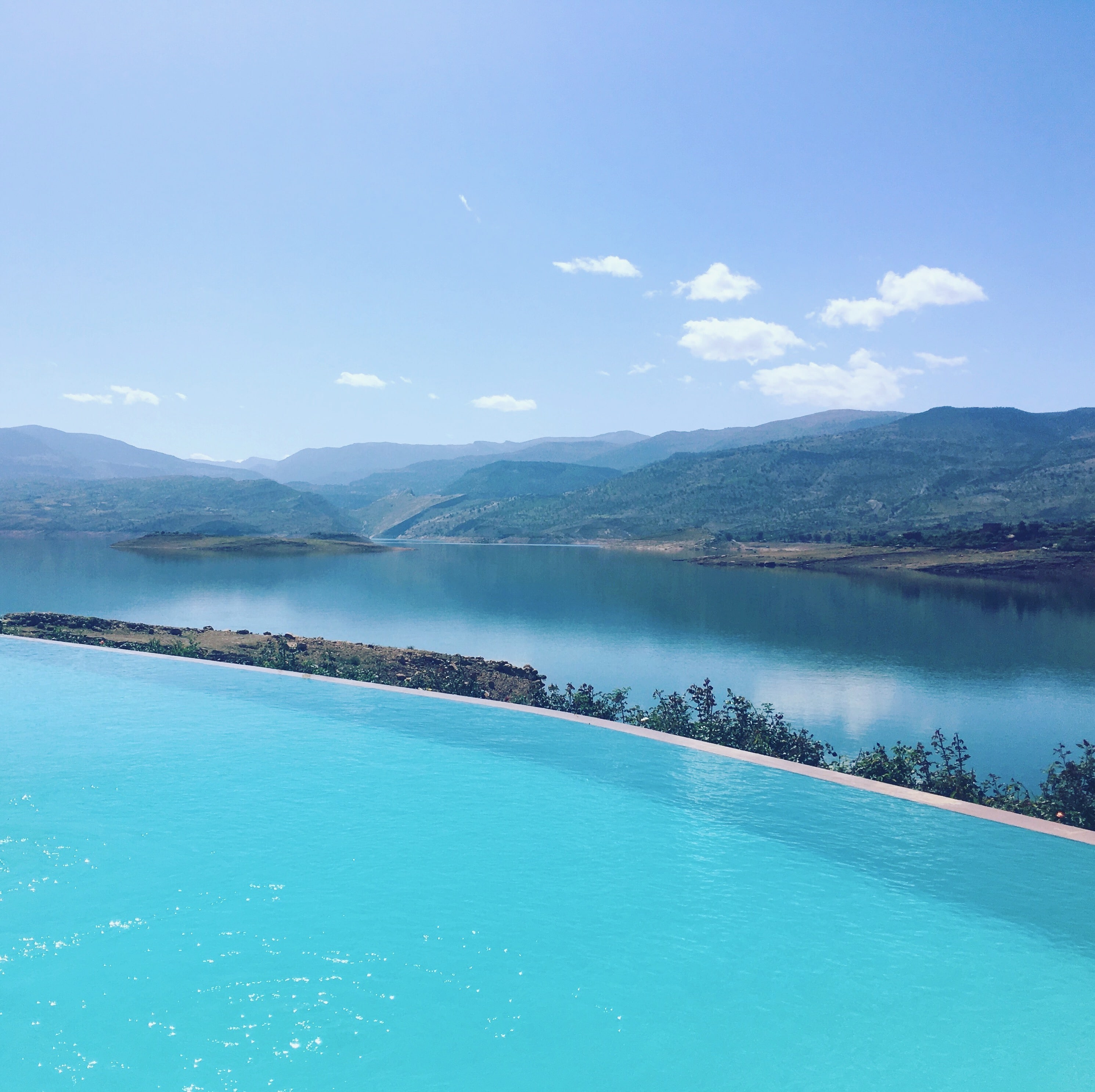 The spectacular infinity pool at Widiane Hotel and Spa